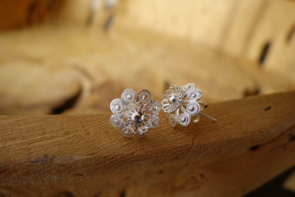 925 Silver Filigree 13mm Floral