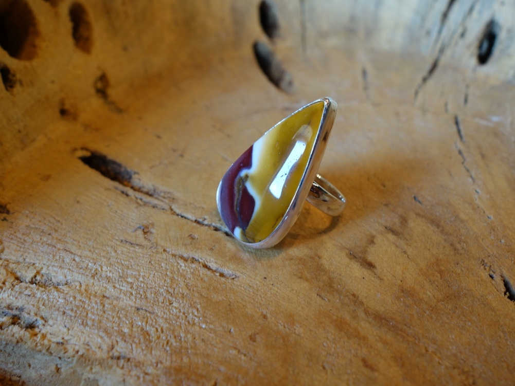 Size 7.5 Teardrop Jasper in 925 Solid Silver Ring