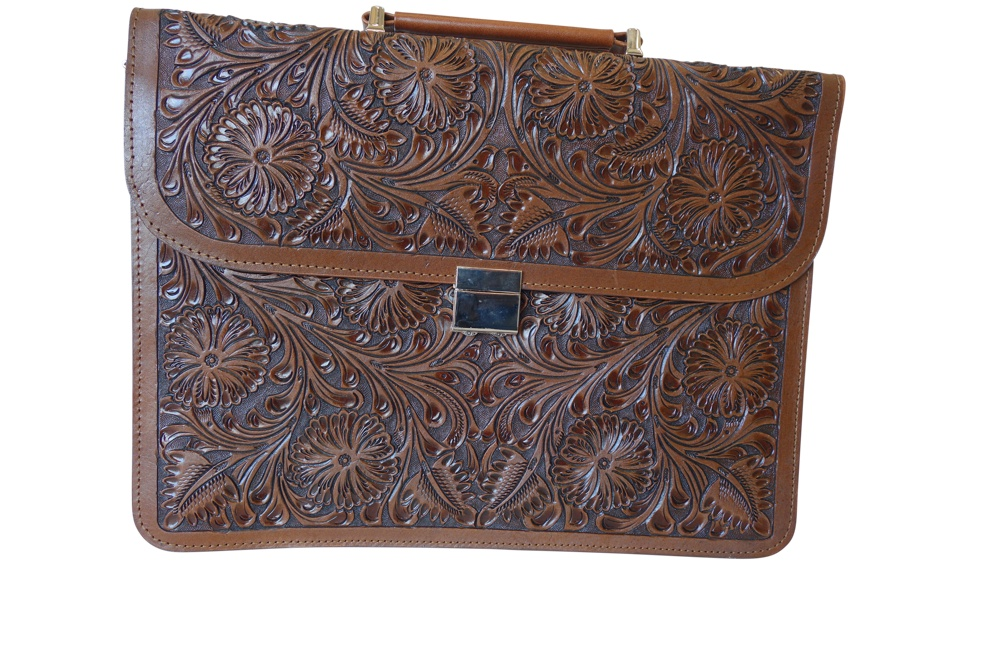 Handtooled Leather Briefcase
