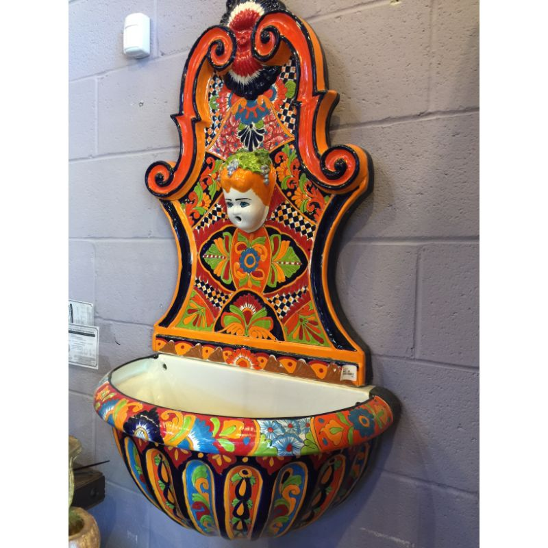Fuente De Pared Talavera Wall Fountain No Mas Productions