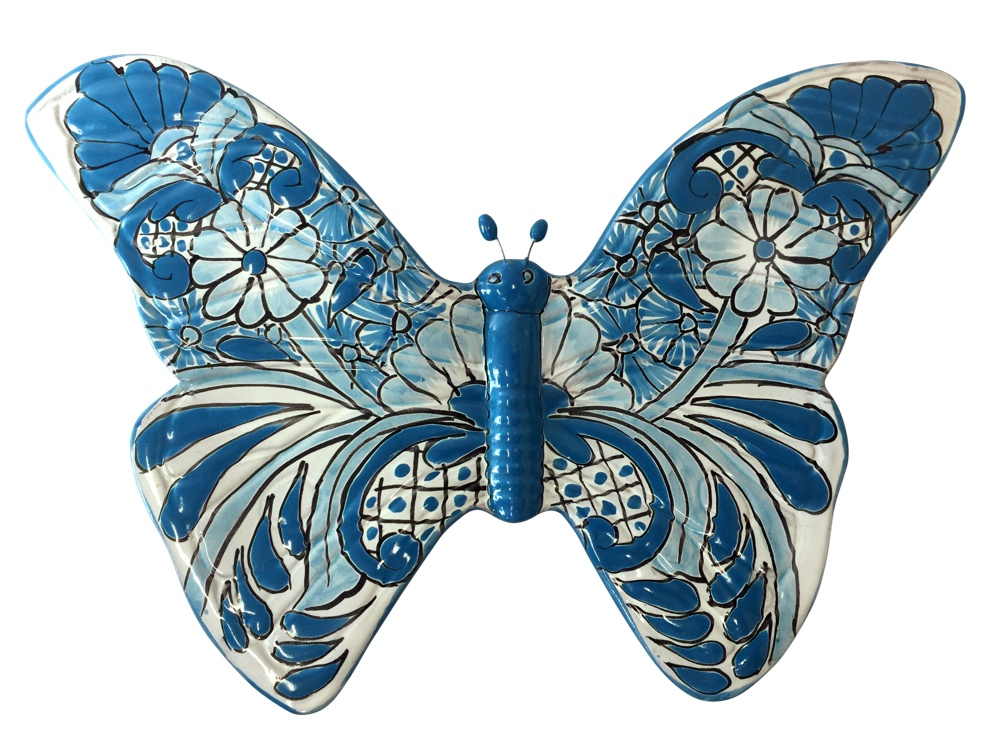 Talavera Butterfly - light blue