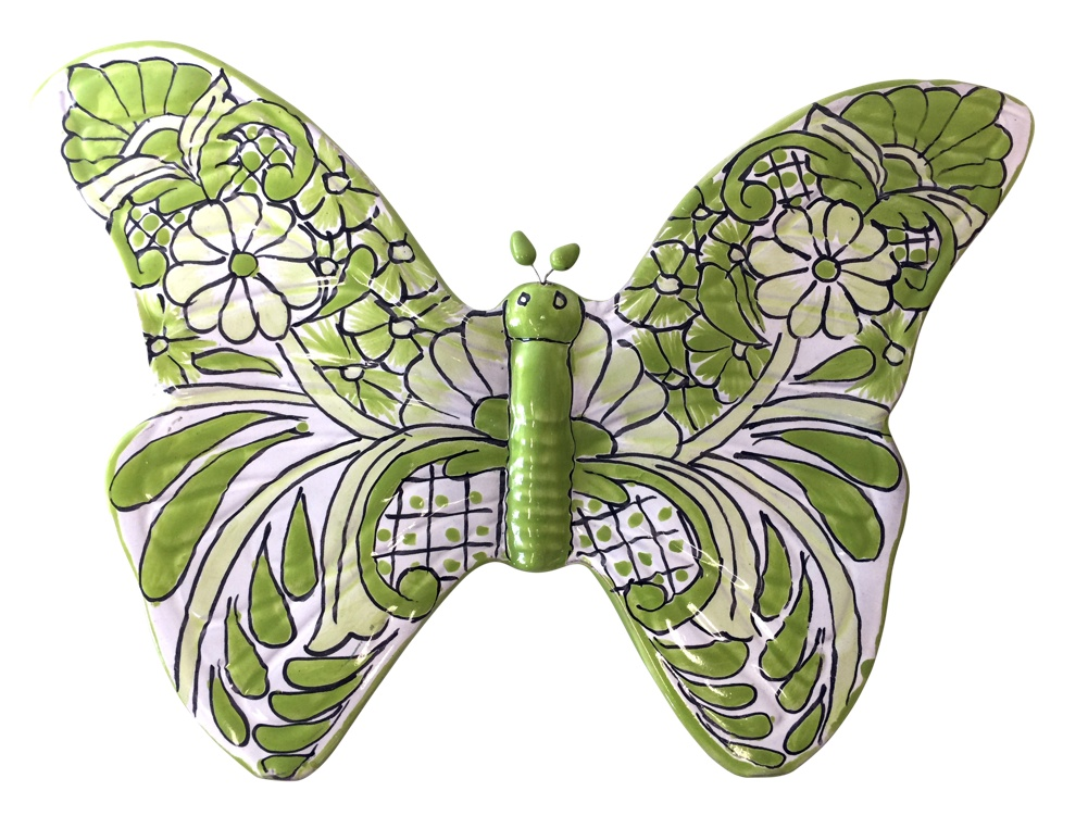 Talavera Butterfly - light green