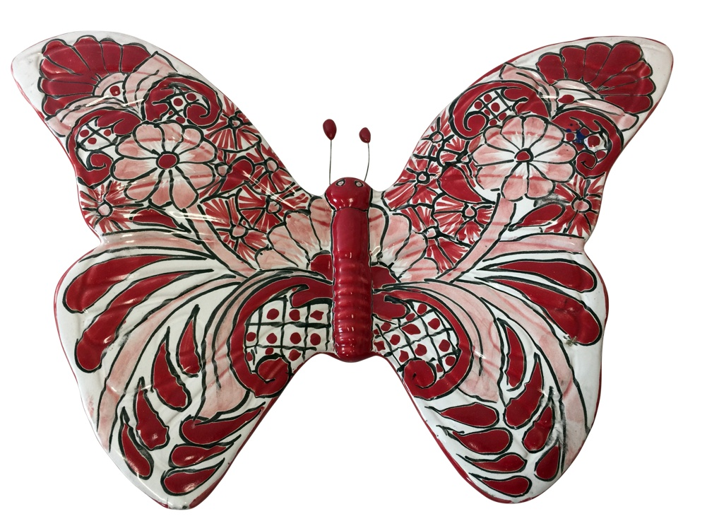 Talavera Butterfly - red