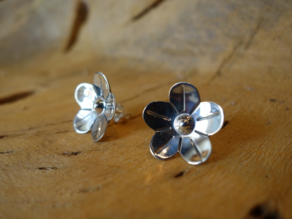925 Sterling Silver Earrings Floral