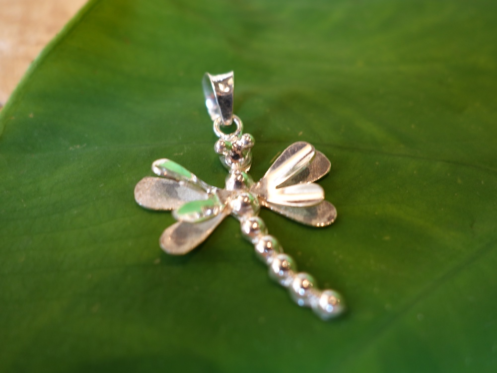 3.3cm Dragonfly Pendant 925 Solid Silver