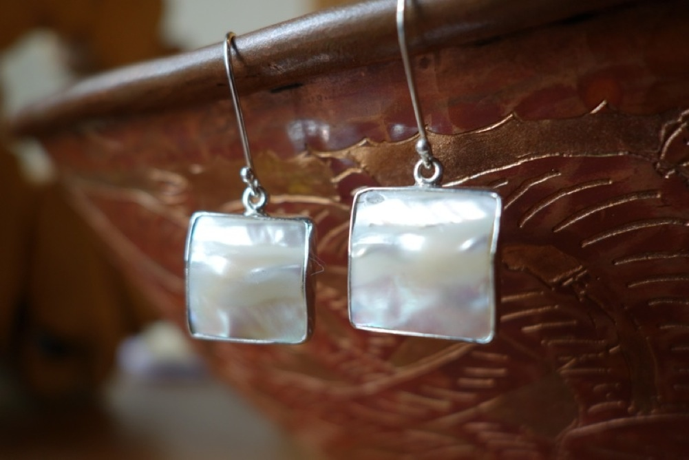 Sterling Silver Earrings Natural Stones