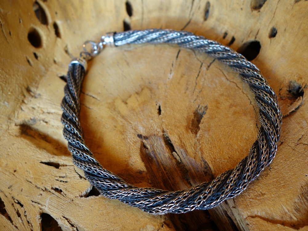 Braided Rope chain rustic finish