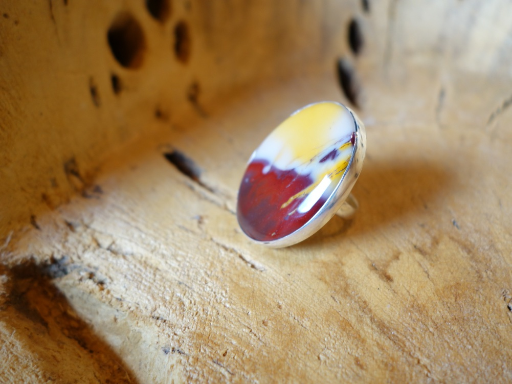 Size 7 Oval Jasper Solid Silver Ring