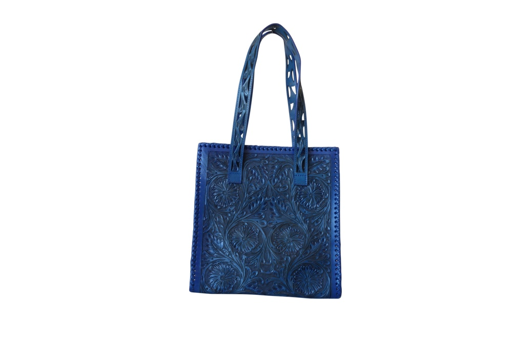 UXMAL GDE Handtooled Leather Handbag