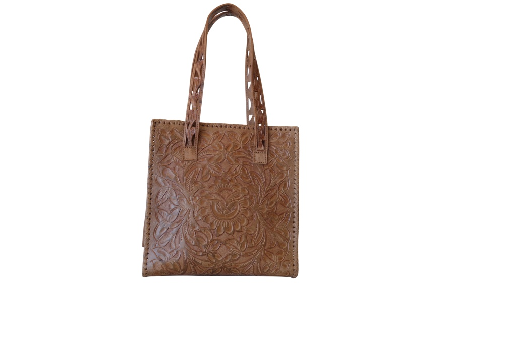 UXMAL GDE Handtooled Leather Handbag12