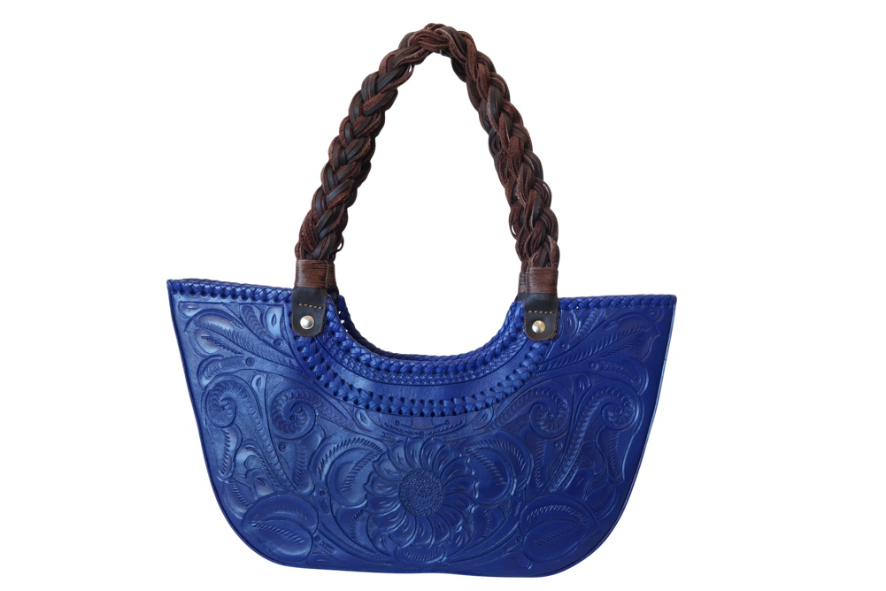 VERACRUZ Handtooled Leather Handbag17.5