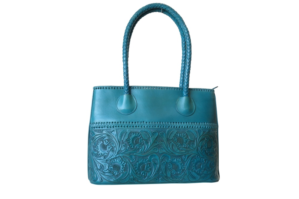 COAHUILA GDE Handtooled Leather Handbag