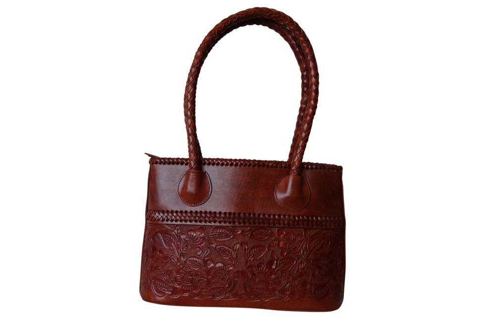 COAHUILA CH Handtooled Leather Handbag