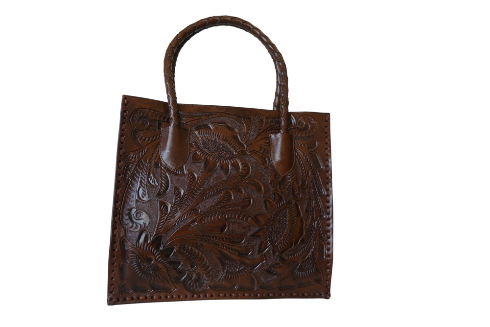 COZUMEL Handtooled Leather Handbag17