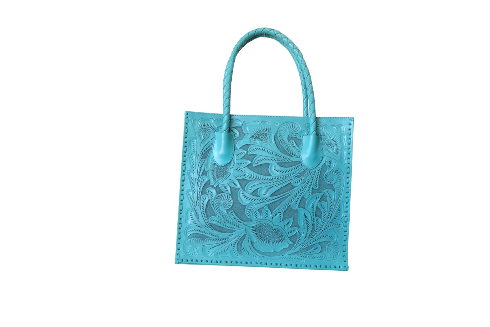 COZUMEL Handtooled Leather Handbag