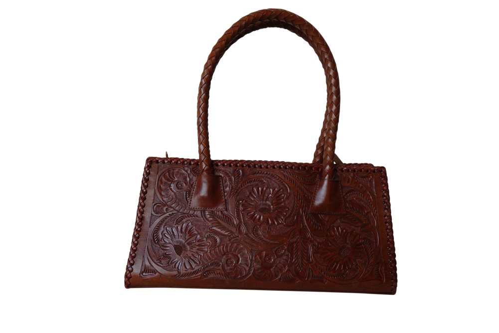MERIDA Handtooled Leather Handbag16