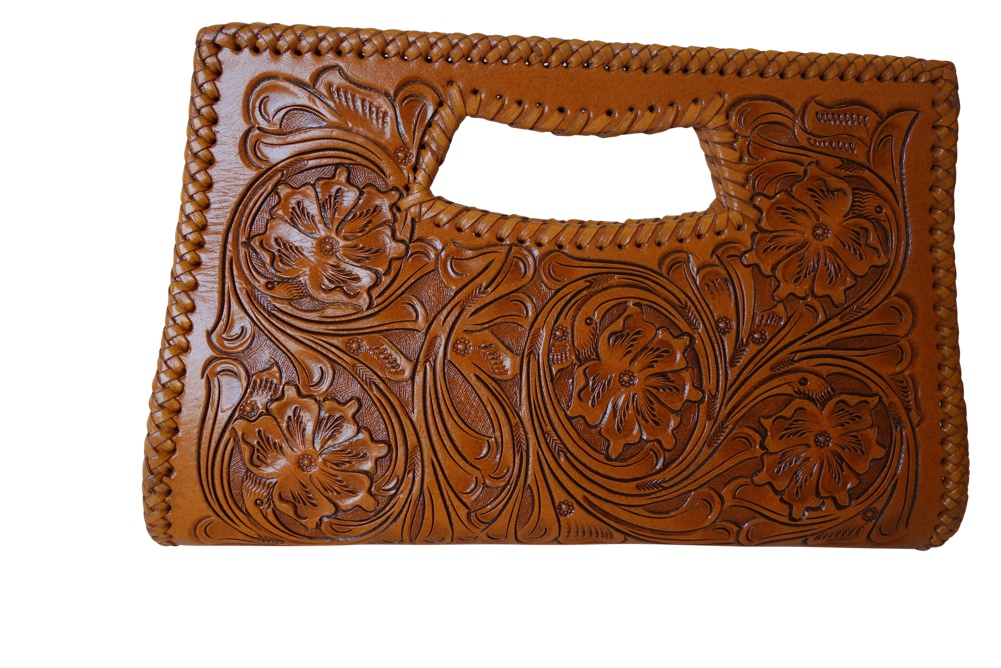 Vallarta Chica Handtooled Leather Handbag13