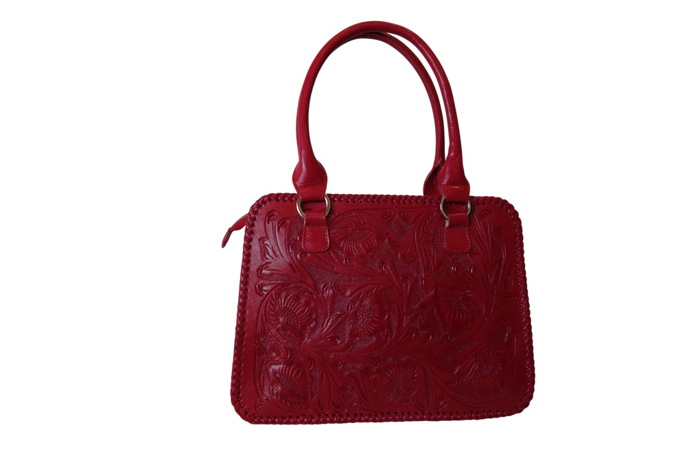 XCARET Handtooled Leather Handbag