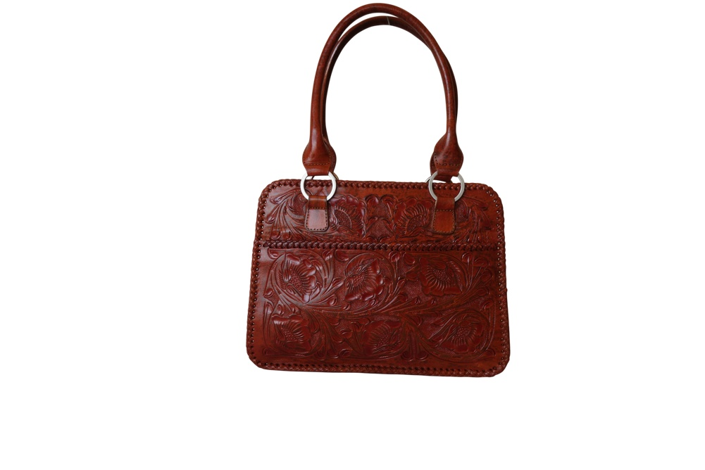 XCARET Handtooled Leather HandbagT Bugati Color13