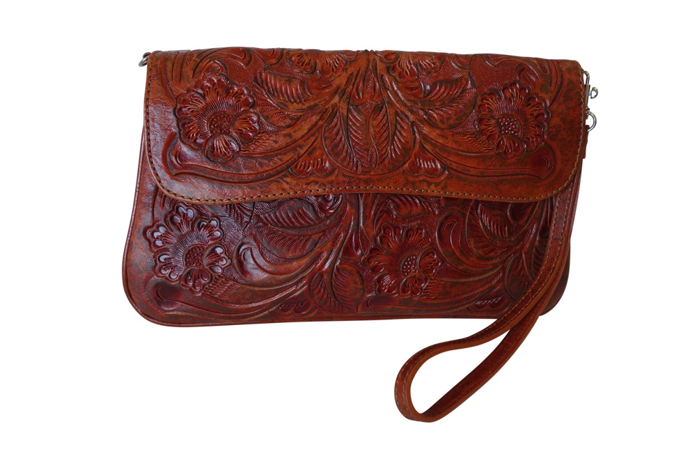 GRANADA Handtooled Leather HandbagT Bugati Color10