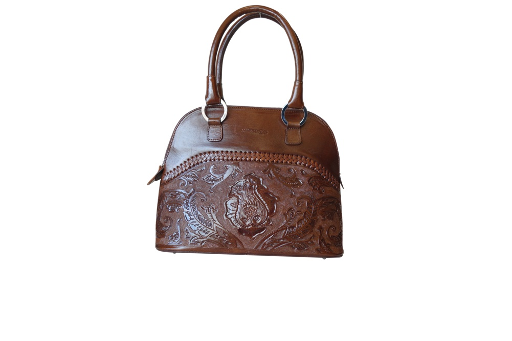 XALAPA Handtooled Leather Handbag
