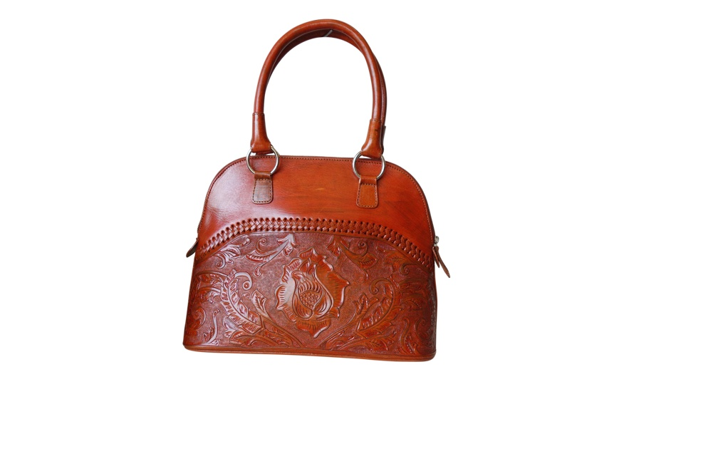 XALAPA Handtooled Leather Handbag14