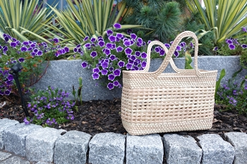 Handwoven Palm Tote Bag
