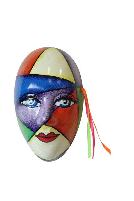 Mini Mask Colorful Handpainted