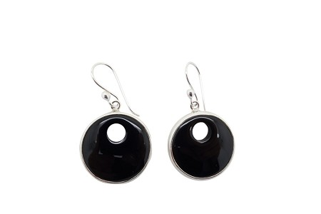 Onyx Sterling Silver Earrings HANG