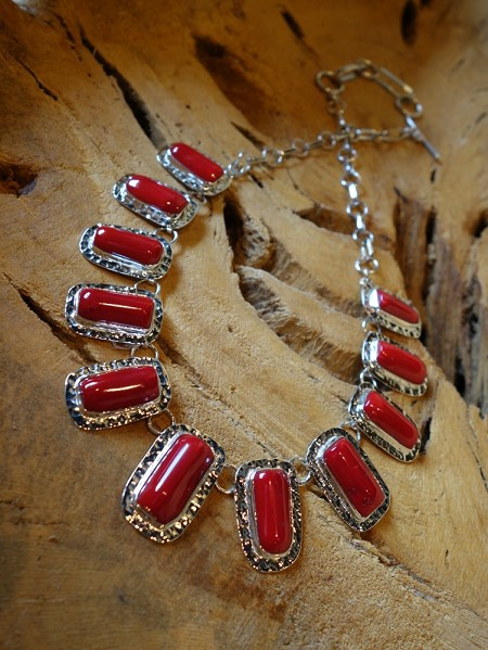 Coral Necklace Solid 925 Silver