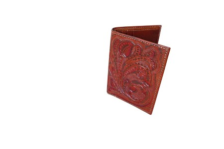 Handtooled Leather Wallet, Bugati Color